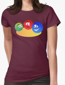 Blue Red And Green Fun Colourful Smiley's Womens Fitted T-Shirt