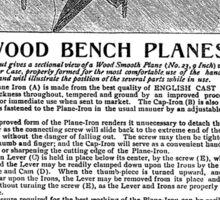 Bailey Adjustable Wood Bench Planes Handbill 1903 Sticker