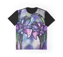 Stained Glass Flowers 1 Graphic T-Shirt