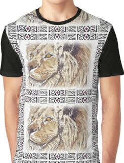 African Lion - Ethnic series Graphic T-Shirt