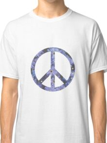 Peace Sign Flowers Classic T-Shirt