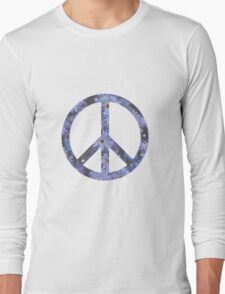 Peace Sign Flowers Long Sleeve T-Shirt