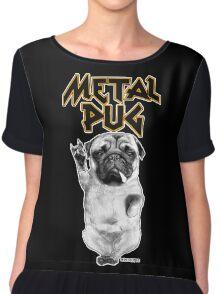metal pug Chiffon Top