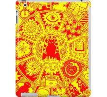 Cat Mandala in Orange and Yellow iPad Case/Skin