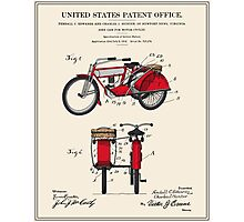 Motorcycle Sidecar Patent 1912 Photographic Print