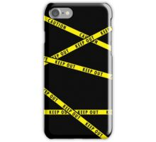 Keep Out Yellow Tape iPhone Case/Skin