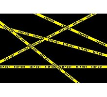 Keep Out Yellow Tape Photographic Print
