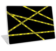 Keep Out Yellow Tape Laptop Skin