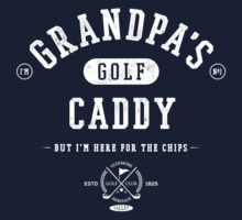 Grandpa's Golf Caddy [White Mono] One Piece - Short Sleeve