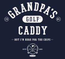 Grandpa's Golf Caddy [White Mono] Kids Tee