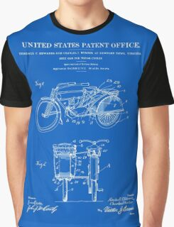 Motorcycle Sidecar Patent 1912 - Blueprint Graphic T-Shirt