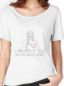 Jesus Christ - I Protect You Women's Relaxed Fit T-Shirt