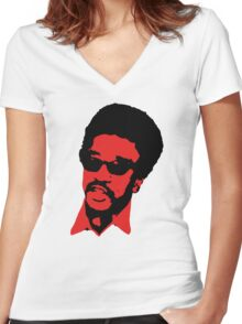 H. Rap Brown Women's Fitted V-Neck T-Shirt