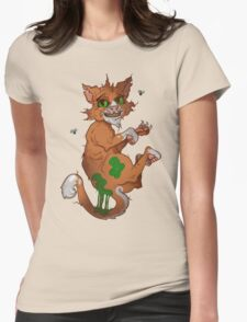Stinky the cat Womens Fitted T-Shirt