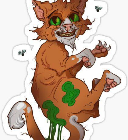 Stinky the cat Sticker