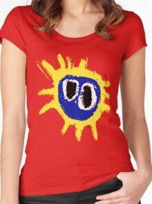 PRIMAL SCREAM RETRO SCREAMADELICA Women's Fitted Scoop T-Shirt