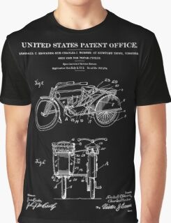 Motorcycle Sidecar Patent 1912 - Black Graphic T-Shirt