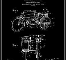 Motorcycle Sidecar Patent 1912 - Black by FinlayMcNevin
