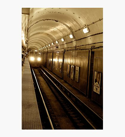 Chicago red line subway Photographic Print