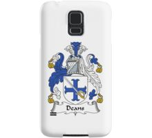 Deans  Coat of Arms / Deans Family Crest Samsung Galaxy Case/Skin