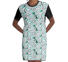 The Eyes Have It - Emerald Dream Version Graphic T-Shirt Dress