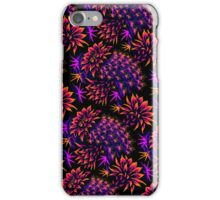 Cactus Floral - Bright Purple/Orange iPhone Case/Skin