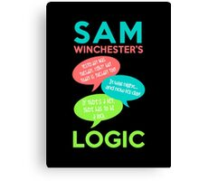 SAM WINCHESTER'S LOGIC Canvas Print