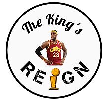 Lebron James Cavaliers NBA Champs 2016 Photographic Print