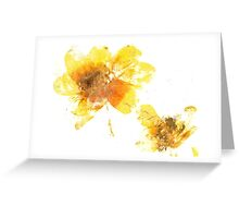 Yellow Flower Press Greeting Card