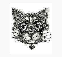 Bold Cat Zentangle Design Unisex T-Shirt