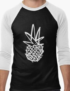 White pineapple  Men's Baseball ¾ T-Shirt