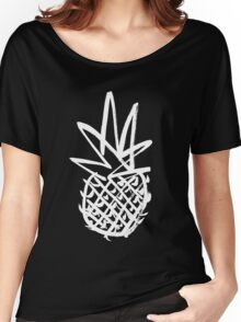 White pineapple  Women's Relaxed Fit T-Shirt