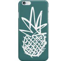 White pineapple  iPhone Case/Skin