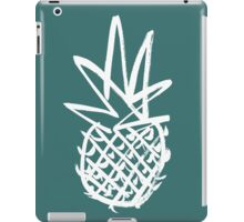 White pineapple  iPad Case/Skin