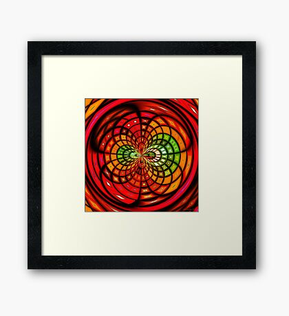 Stained Glass Fruit Salad Framed Print