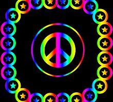 Groovy Rainbow Peace Signs by ladyjayne2983