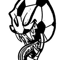 Soccer Monster Black and White by BL-Airbrush