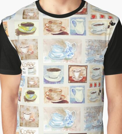 Tea/Coffee collage Graphic T-Shirt