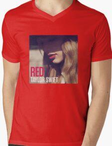 Red Album Mens V-Neck T-Shirt