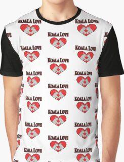 Koala Love Pattern  Graphic T-Shirt