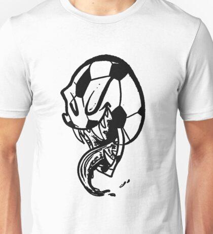Soccer Monster Black and White Unisex T-Shirt