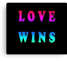 Love Wins Canvas Print