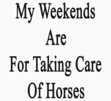 My Weekends Are For Taking Care Of Horses  by supernova23