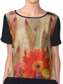Glads and Other Pretty Flowers Chiffon Top