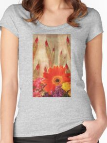 Glads and Other Pretty Flowers Women's Fitted Scoop T-Shirt