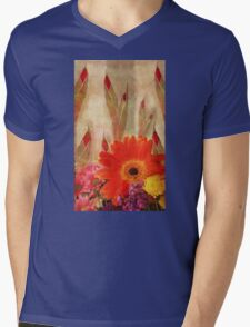 Glads and Other Pretty Flowers Mens V-Neck T-Shirt