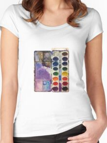 water color pallet no background Women's Fitted Scoop T-Shirt