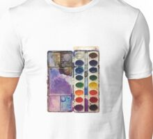 water color pallet no background Unisex T-Shirt