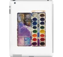 water color pallet no background iPad Case/Skin