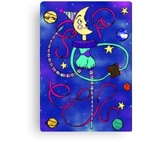 Phantasmagorical moon man... Canvas Print